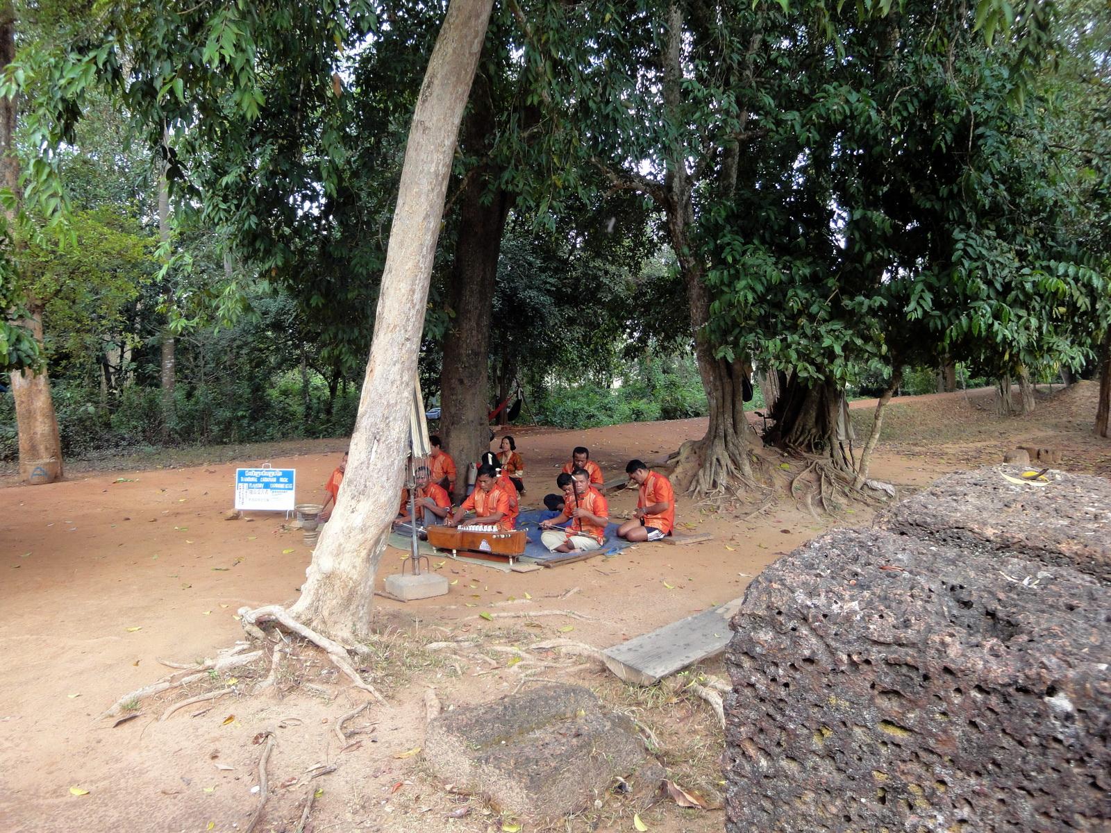 Banteay Srei Temple band raising money for landmine victims 01