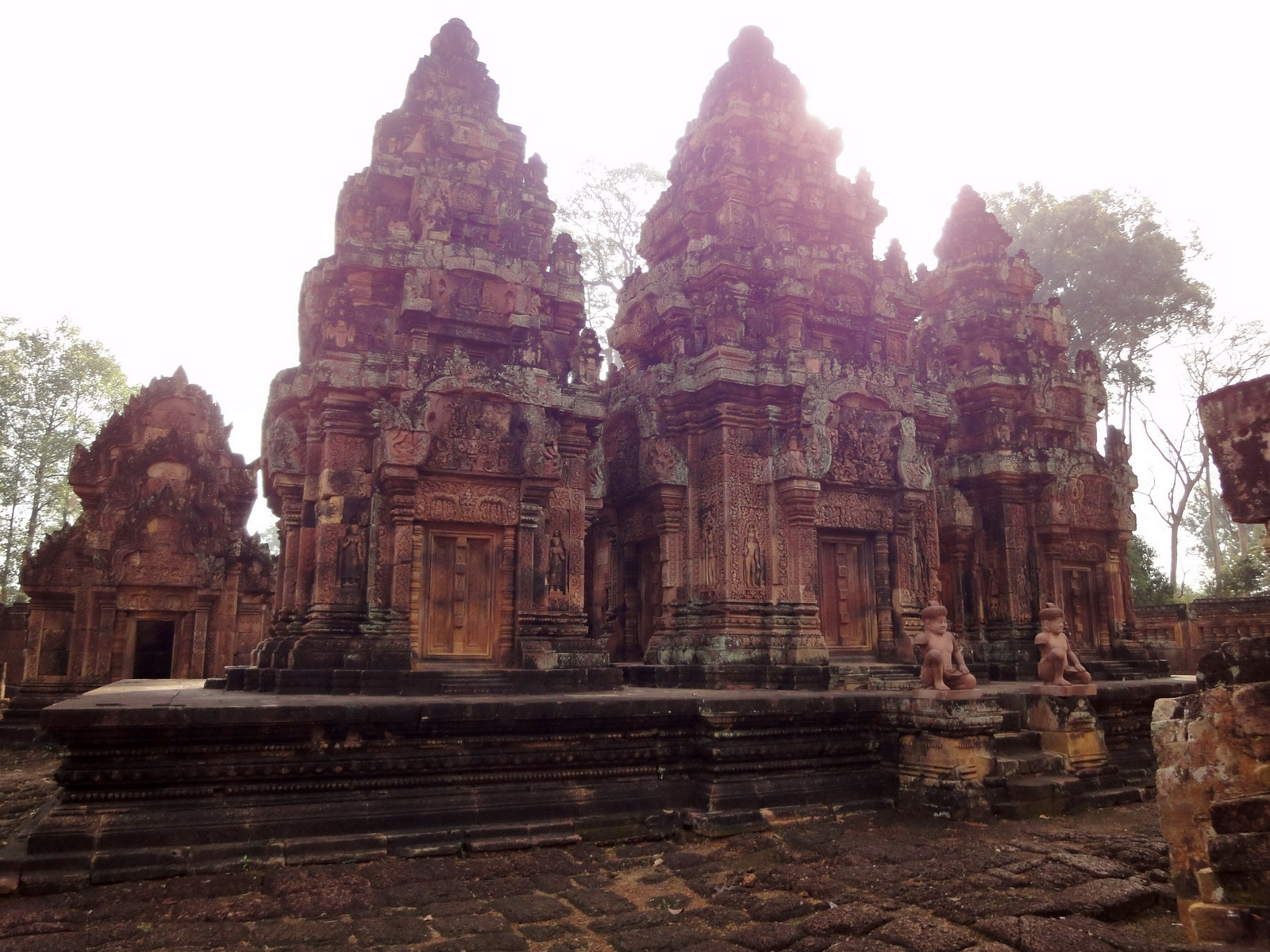 Banteay Srei Temple innately carved sandstone Sanctuary tower 08