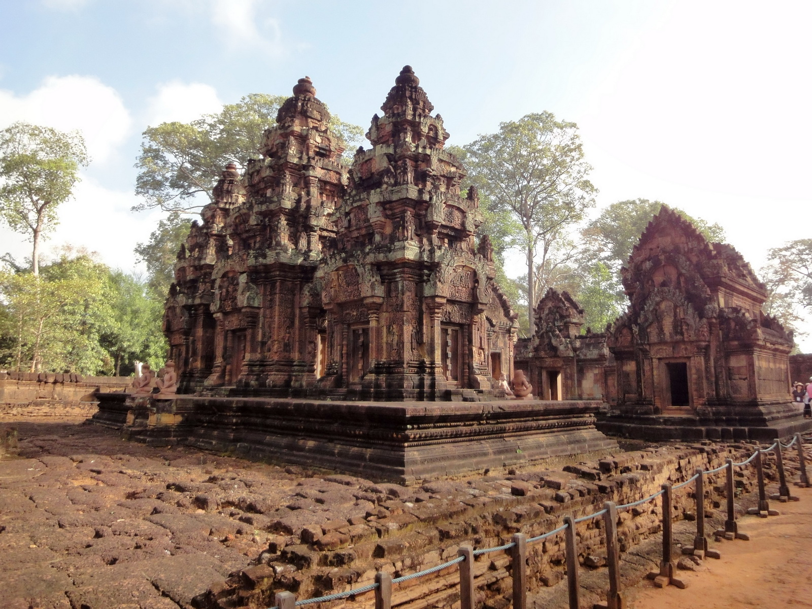 Banteay Srei Temple innately carved sandstone Sanctuary tower 10