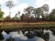 Asisbiz Banteay Srei 10th century Khmer architecture Tribhuvanamahesvara 03