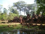 Asisbiz Banteay Srei 10th century Khmer architecture Tribhuvanamahesvara 06