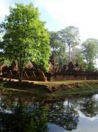 Asisbiz Banteay Srei 10th century Khmer architecture Tribhuvanamahesvara 07