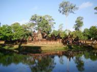 Asisbiz Banteay Srei 10th century Khmer architecture Tribhuvanamahesvara 22