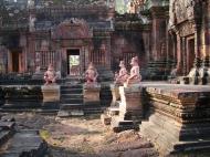 Asisbiz Banteay Srei 10th century architecture inner sanctuary area 06