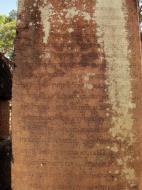 Asisbiz Banteay Srei Hindu Temple red sandstone Classical carved Sanskrit 03