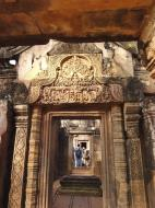 Asisbiz Banteay Srei Hindu Temple red sandstone carved arches 03