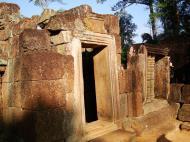 Asisbiz Banteay Srei Hindu Temple red sandstone carved passages 02