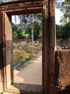 Asisbiz Banteay Srei Hindu Temple red sandstone carved passages 03