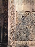 Asisbiz Banteay Srei Hindu Temple red sandstone carved pillars 08