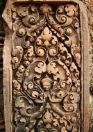 Asisbiz Banteay Srei Hindu Temple red sandstone carved pillars 13