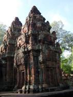 Asisbiz Banteay Srei Temple innately carved sandstone Sanctuary tower 01
