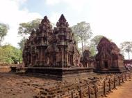Asisbiz Banteay Srei Temple innately carved sandstone Sanctuary tower 09