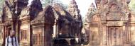 Asisbiz Banteay Srei Temple pediment shows burning of Khandava Forest 01