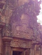 Asisbiz Banteay Srei carving of Krishna slaying his wicked uncle Kamsa 01