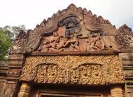 Asisbiz Banteay Srei western gopura depicting combat between Vali and Sugreeva 05