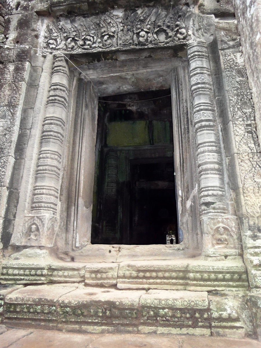 Bayon Temple decorative Bas reliefs Angkor Siem Reap 01