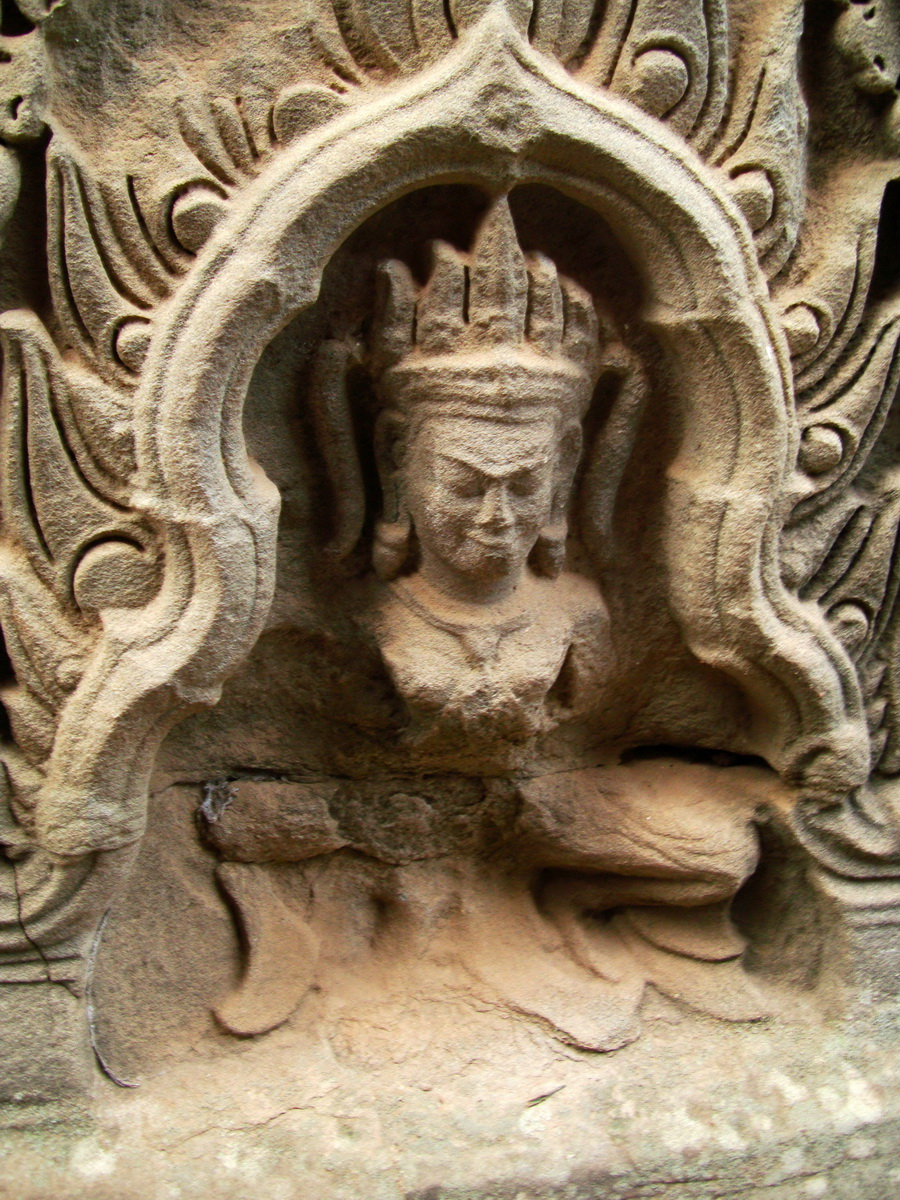 Bayon Temple decorative Bas reliefs Angkor Siem Reap 06