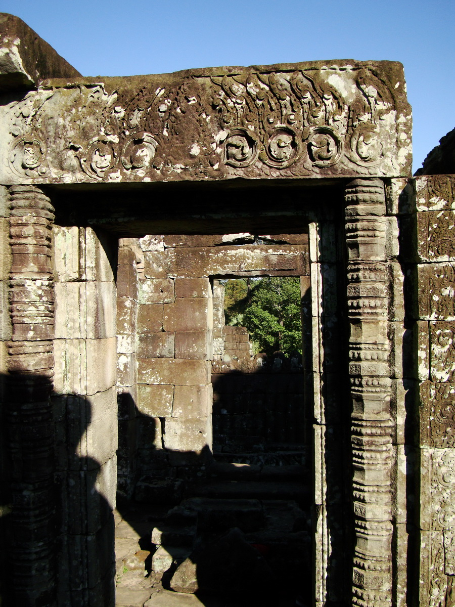 Bayon Temple decorative Bas reliefs Angkor Siem Reap 10