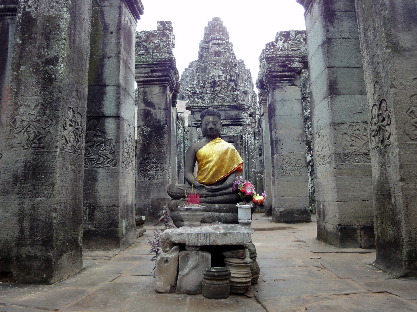 Bayon Temple eastern gopura Buddha statue Angkor Jan 2010 05