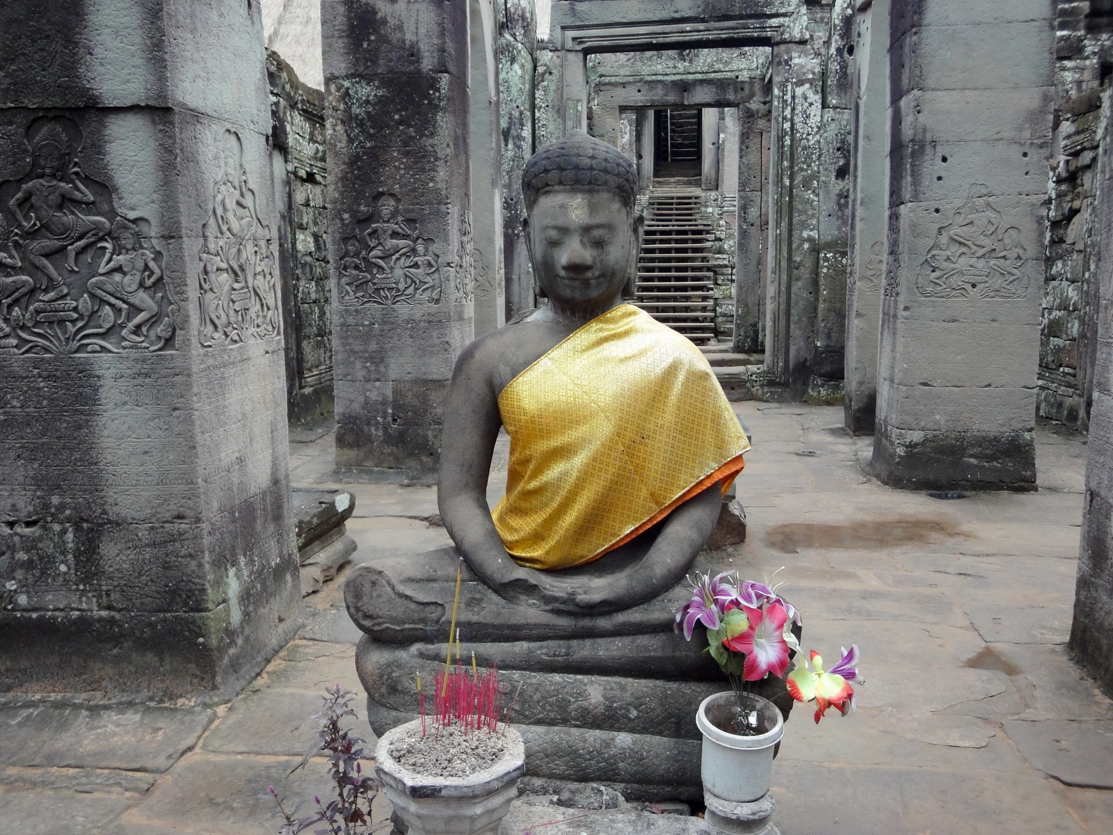 Bayon Temple eastern gopura Buddha statue Angkor Jan 2010 10