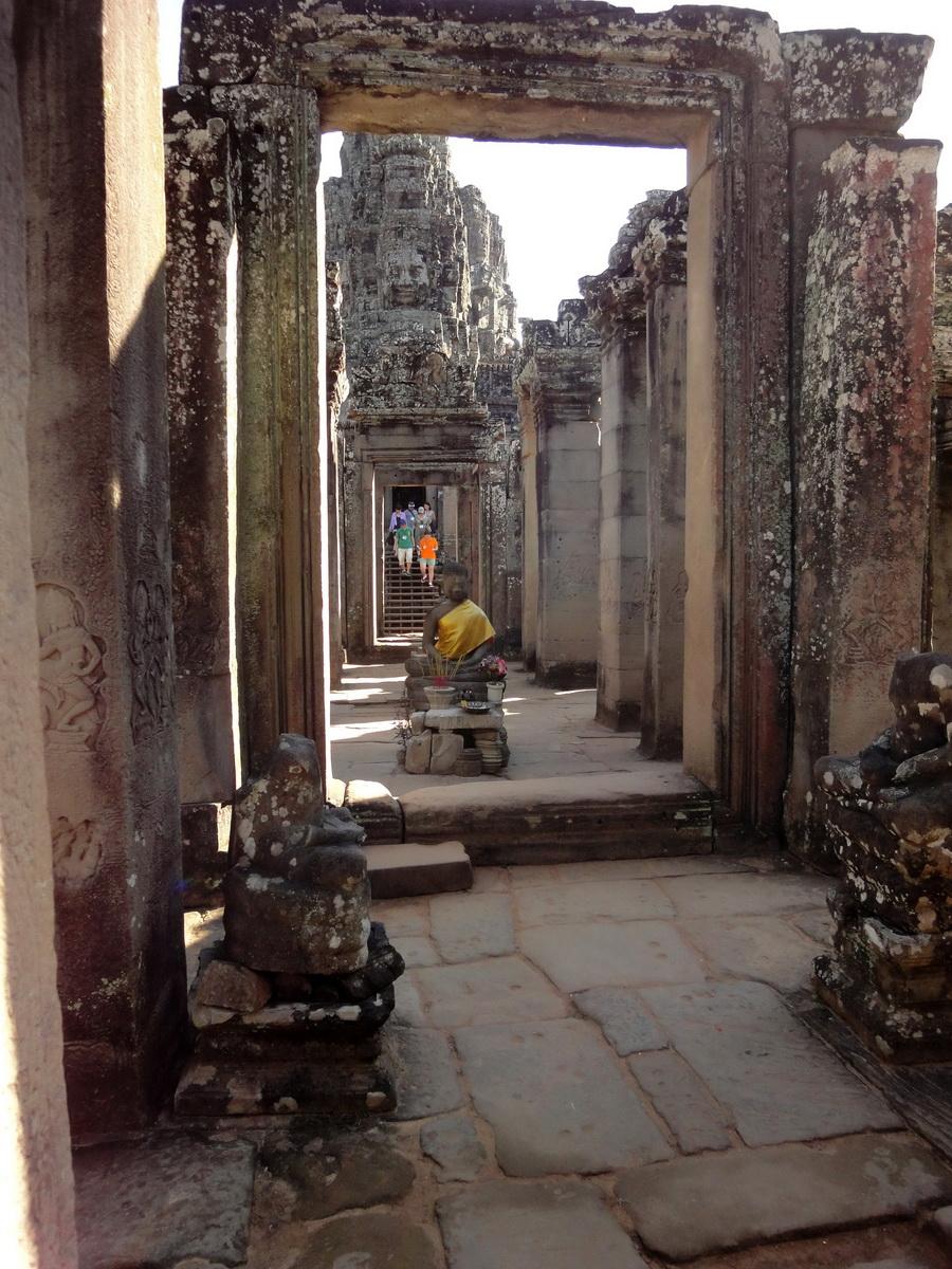 Bayon Temple eastern gopura Buddha statue Angkor Jan 2010 11