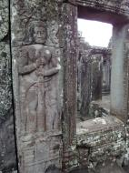 Asisbiz Bayon Temple Bas relief mythic guardians Asuras stand on guard 01