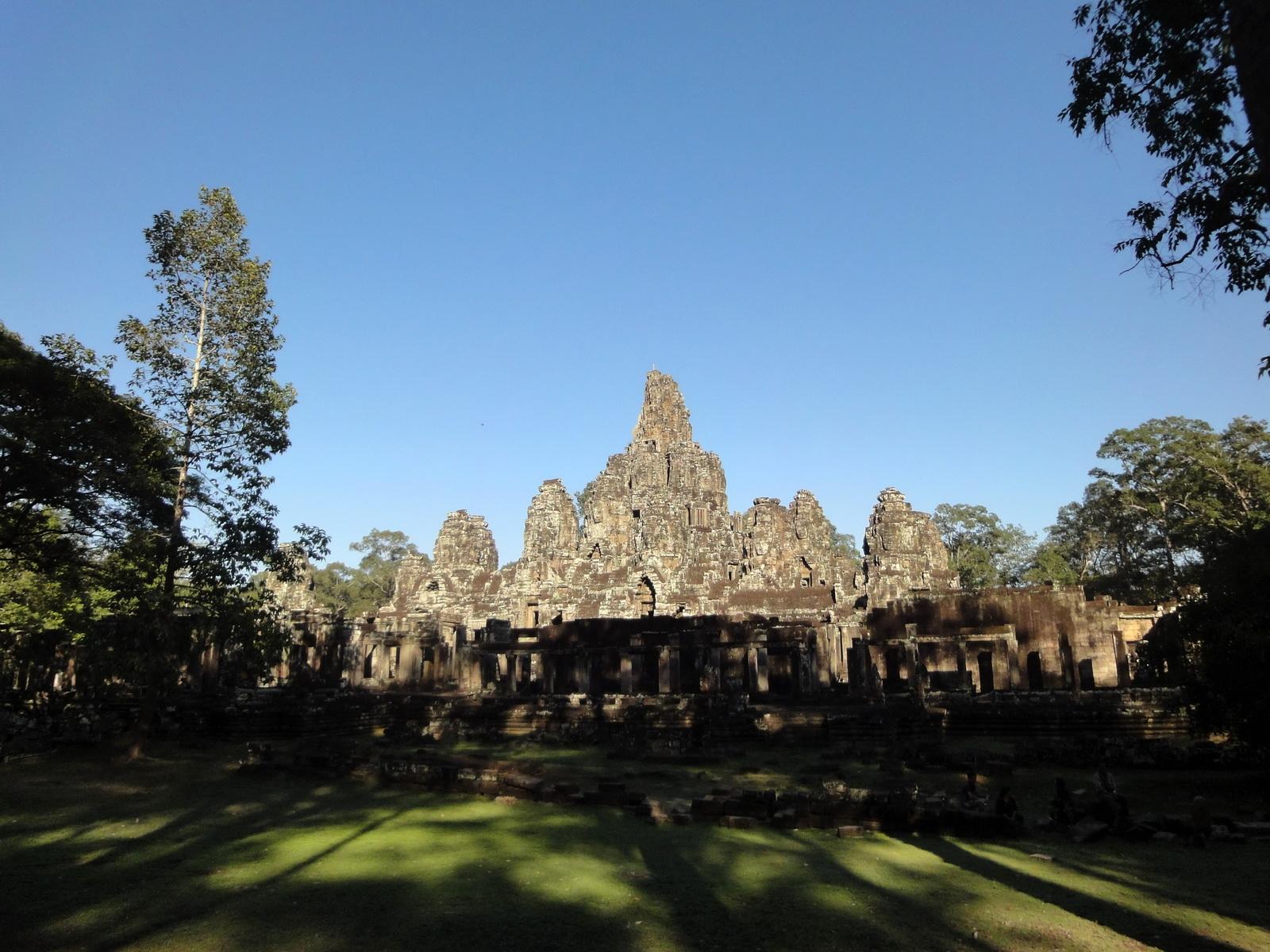 Bayon Temple NE panoramic views of NE corner outer walls Angkor Jan 2010 03
