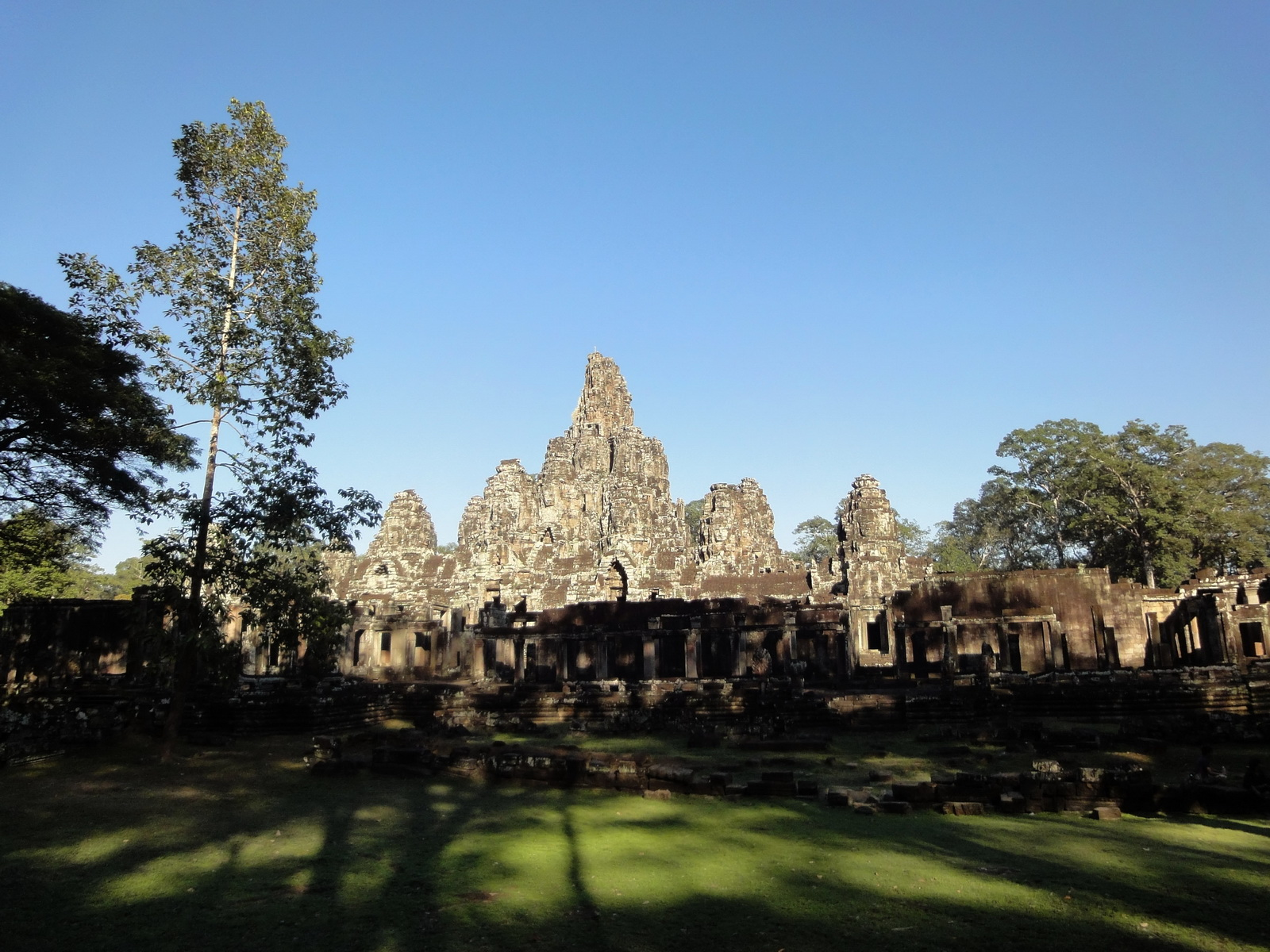 Bayon Temple NE panoramic views of NE corner outer walls Angkor Jan 2010 04