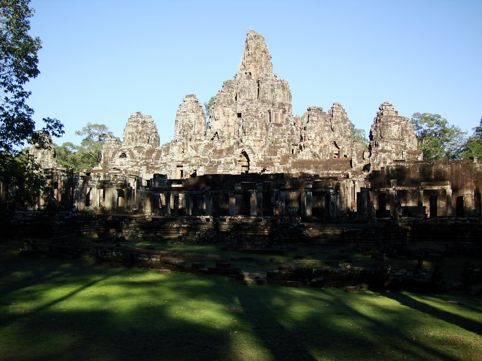 Bayon Temple NE panoramic views of NE corner outer walls Angkor Jan 2010 08