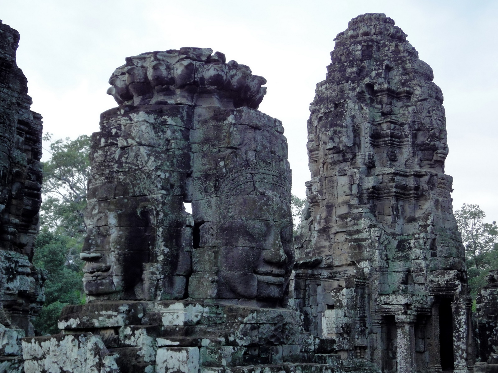 Bayon Temple NW inner gallery face towers Angkor Siem Reap 02
