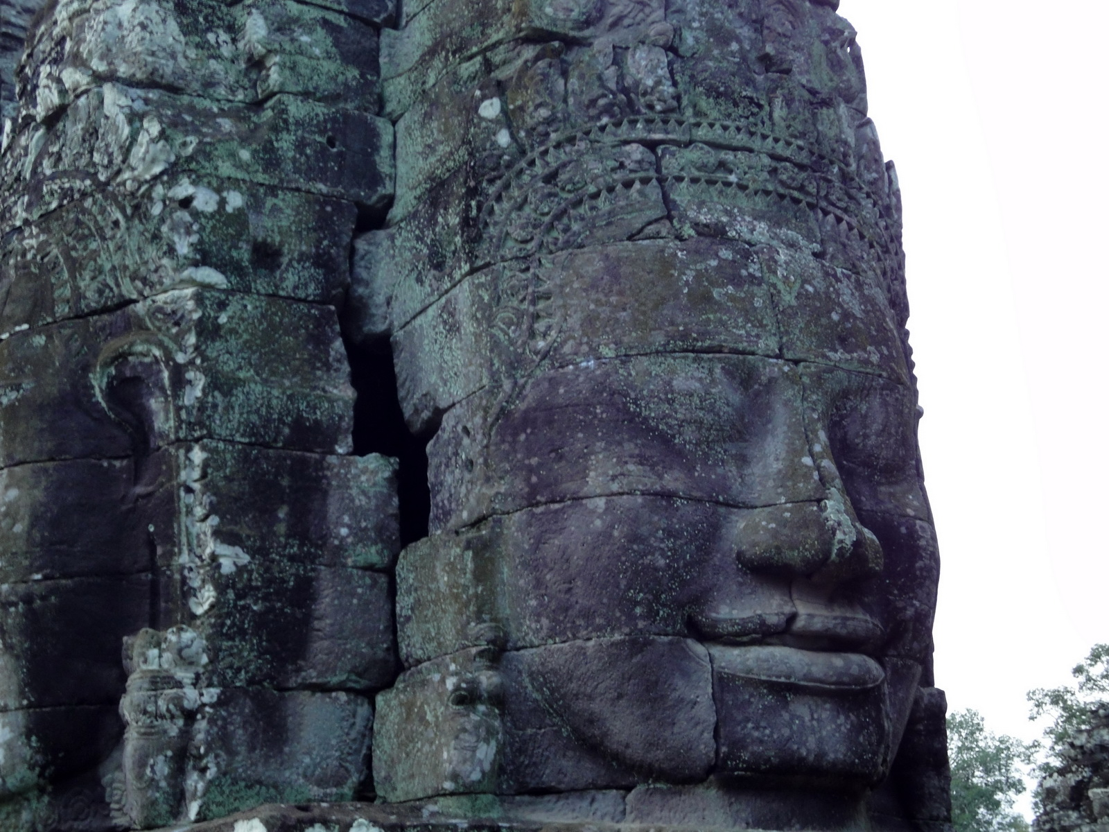 Bayon Temple NW inner gallery face towers Angkor Siem Reap 03