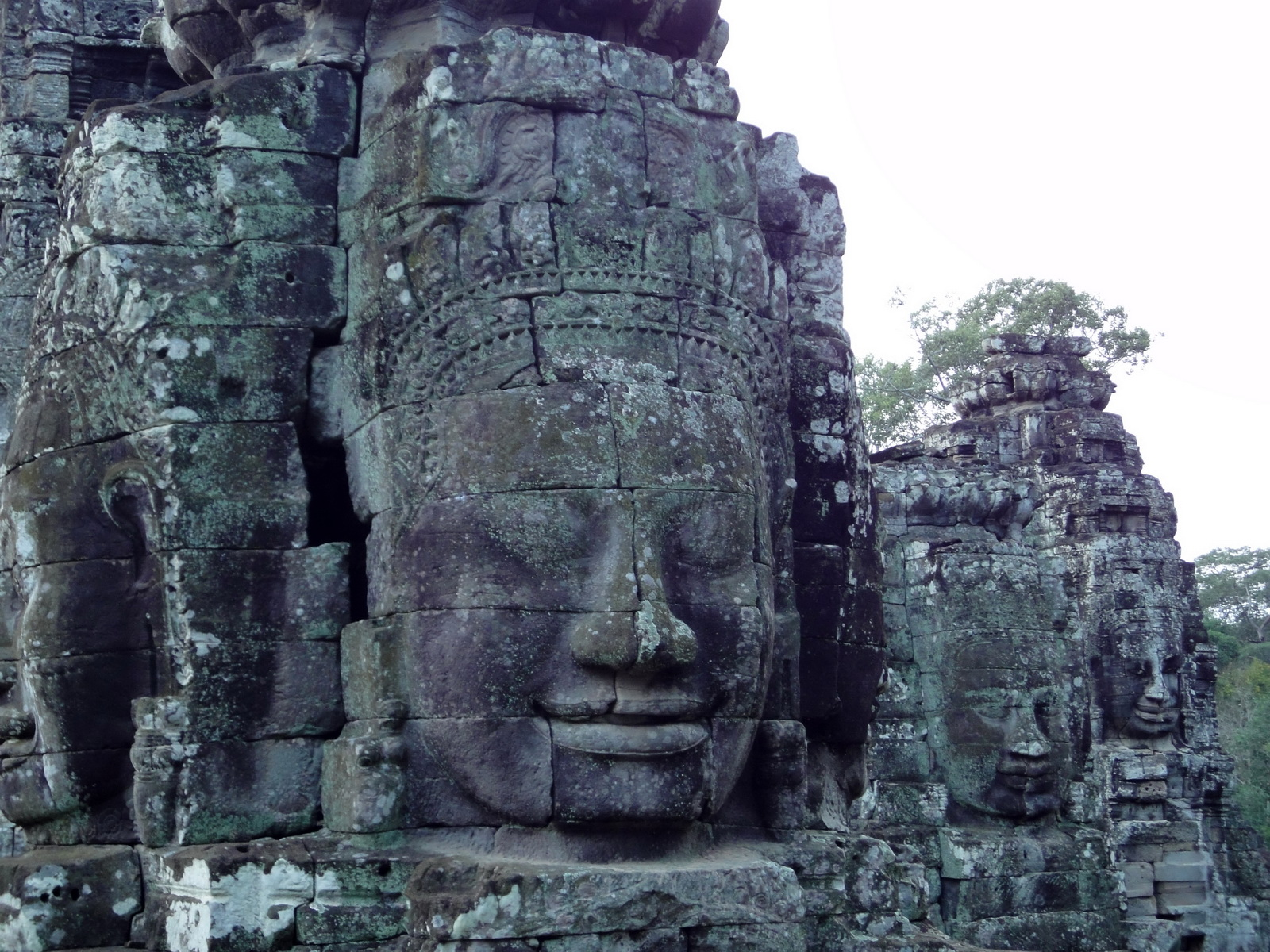 Bayon Temple NW inner gallery face towers Angkor Siem Reap 04