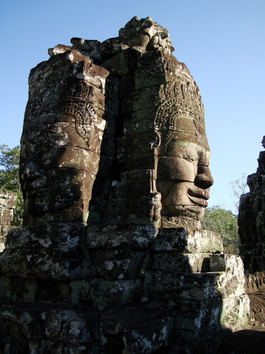 Bayon Temple NW inner gallery face towers Angkor Siem Reap 06