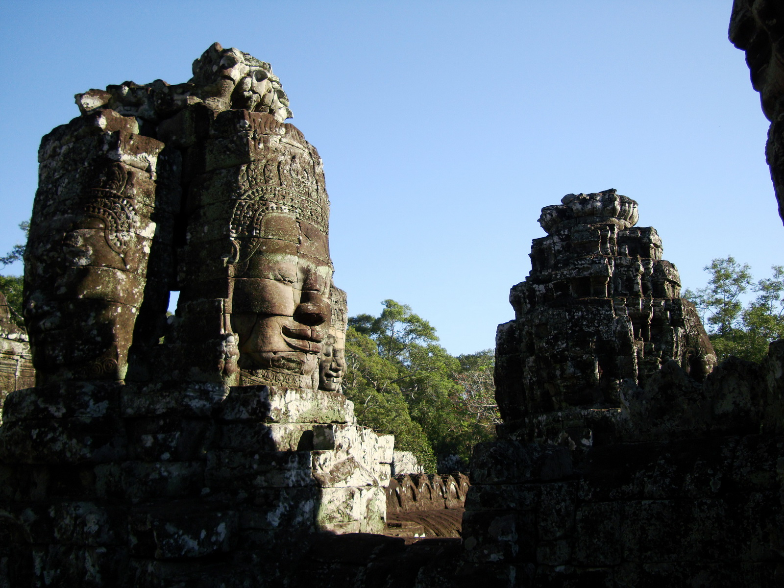 Bayon Temple NW inner gallery face towers Angkor Siem Reap 07