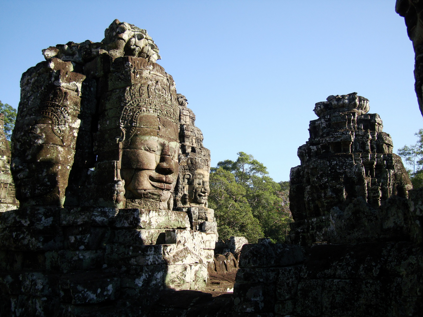 Bayon Temple NW inner gallery face towers Angkor Siem Reap 08