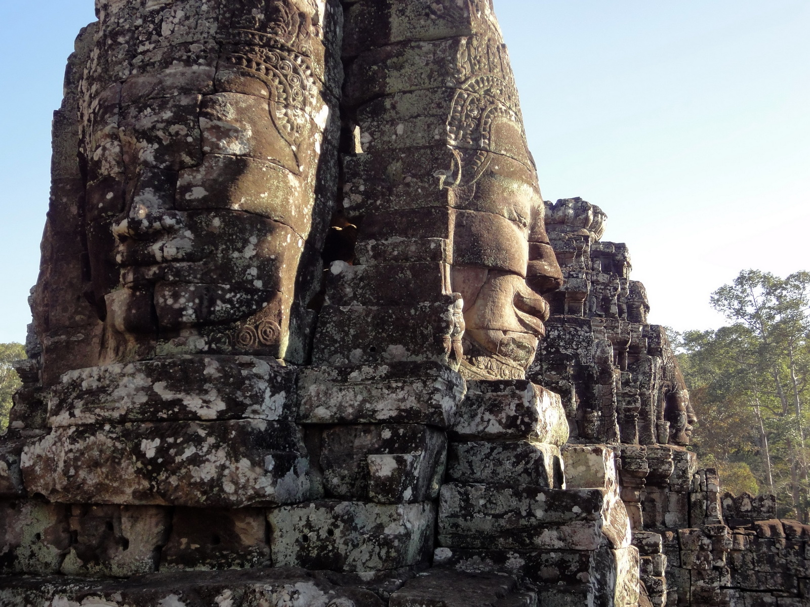 Bayon Temple NW inner gallery face towers Angkor Siem Reap 09