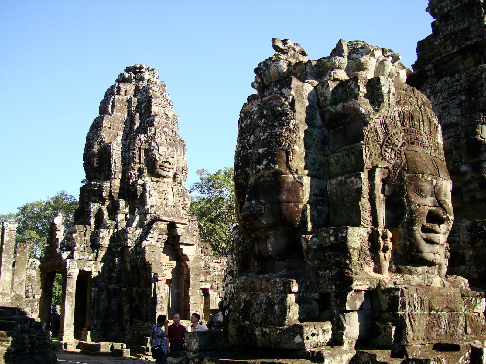 Bayon Temple NW inner gallery face towers Angkor Siem Reap 10