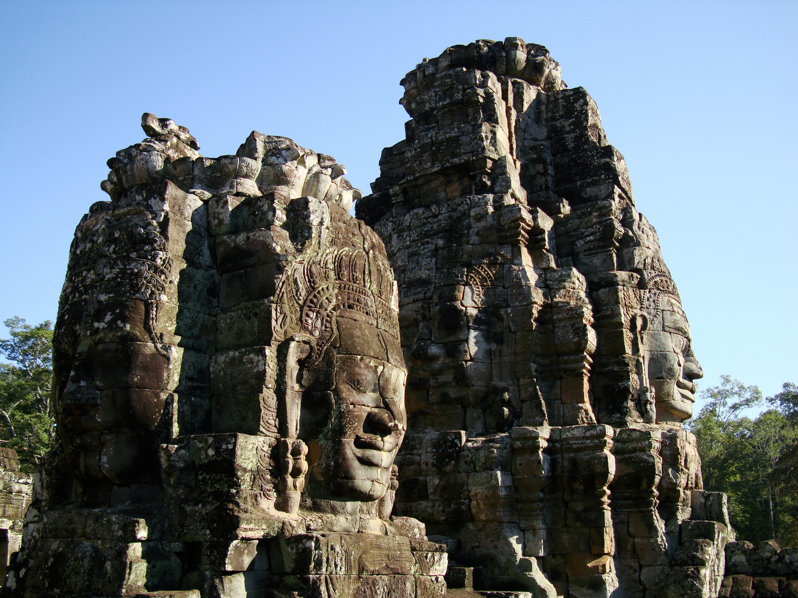 Bayon Temple NW inner gallery face towers Angkor Siem Reap 11