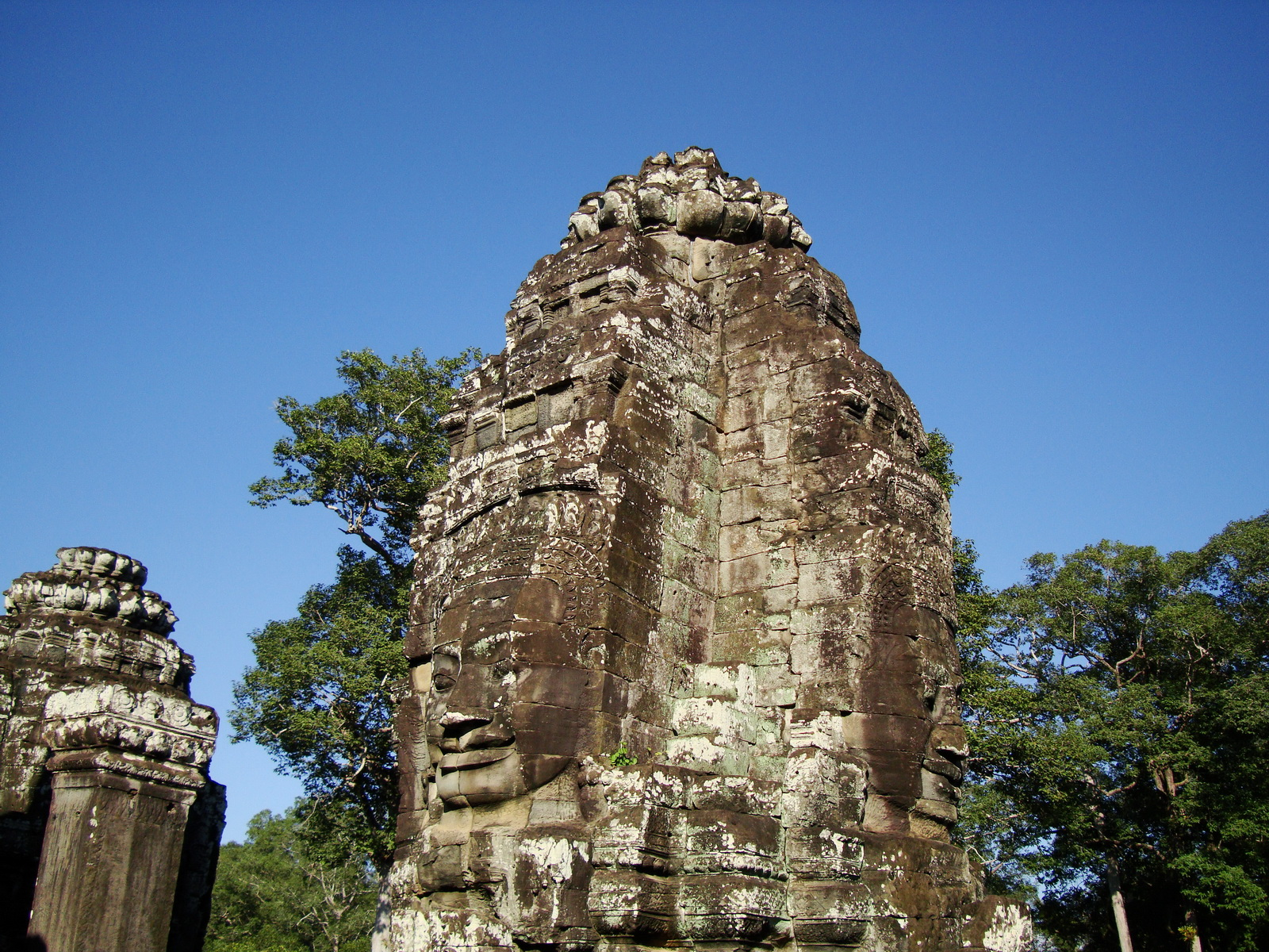 Bayon Temple NW inner gallery face towers Angkor Siem Reap 12