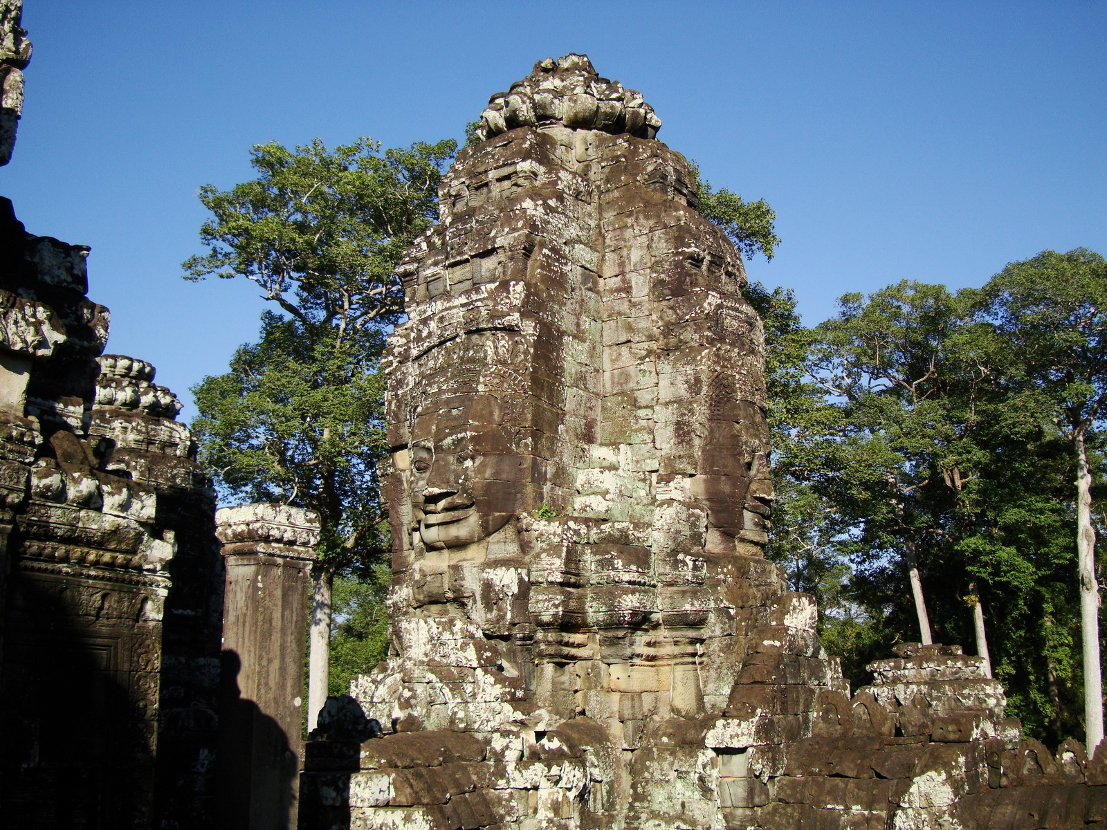 Bayon Temple NW inner gallery face towers Angkor Siem Reap 13