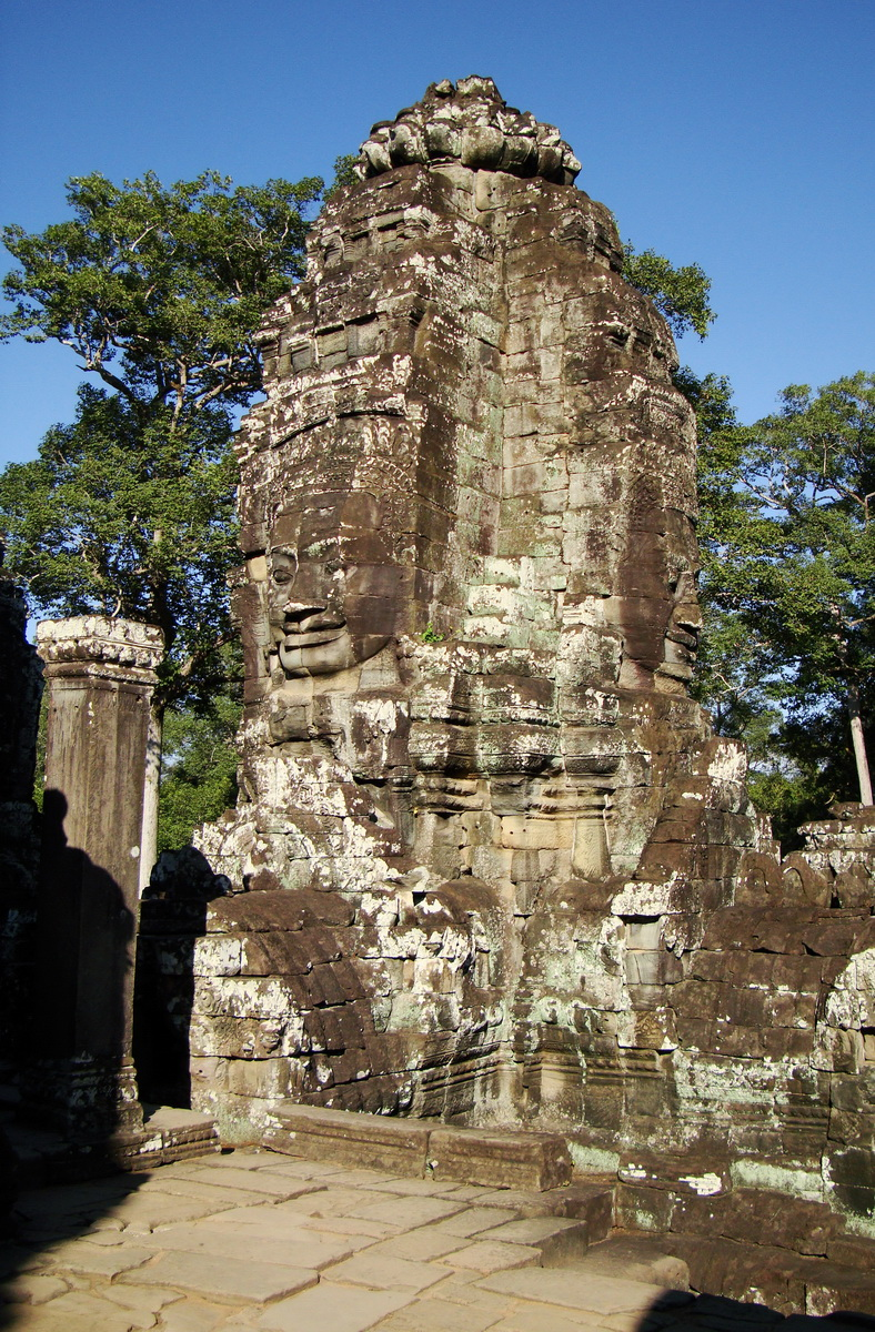 Bayon Temple NW inner gallery face towers Angkor Siem Reap 14