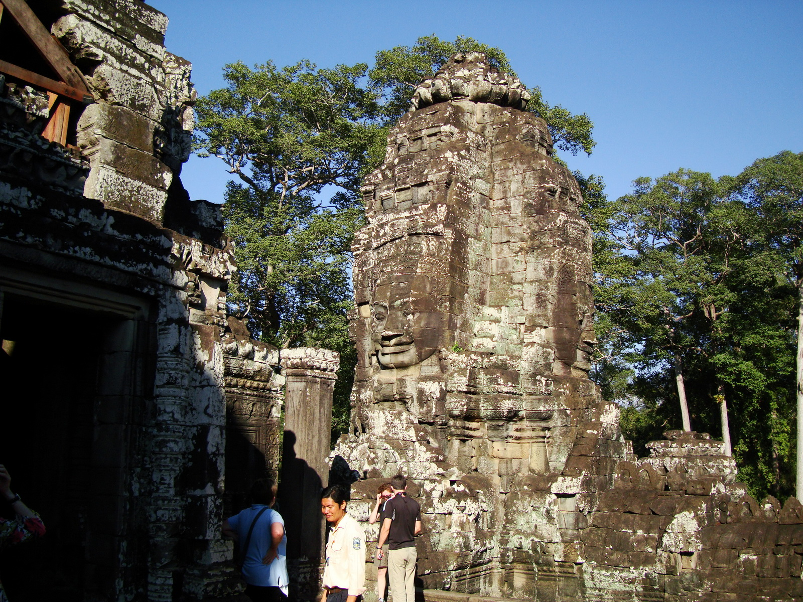 Bayon Temple NW inner gallery face towers Angkor Siem Reap 16