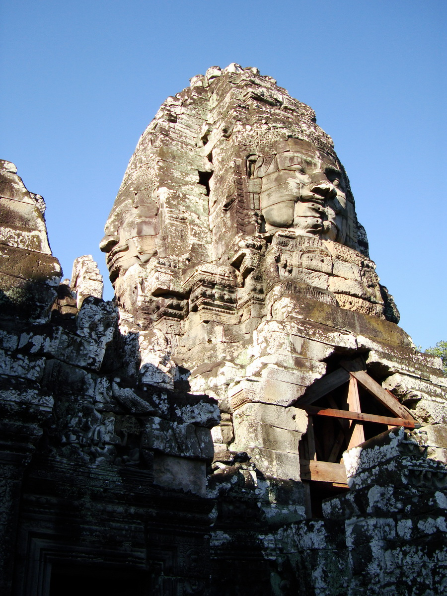 Bayon Temple NW inner gallery face towers Angkor Siem Reap 17