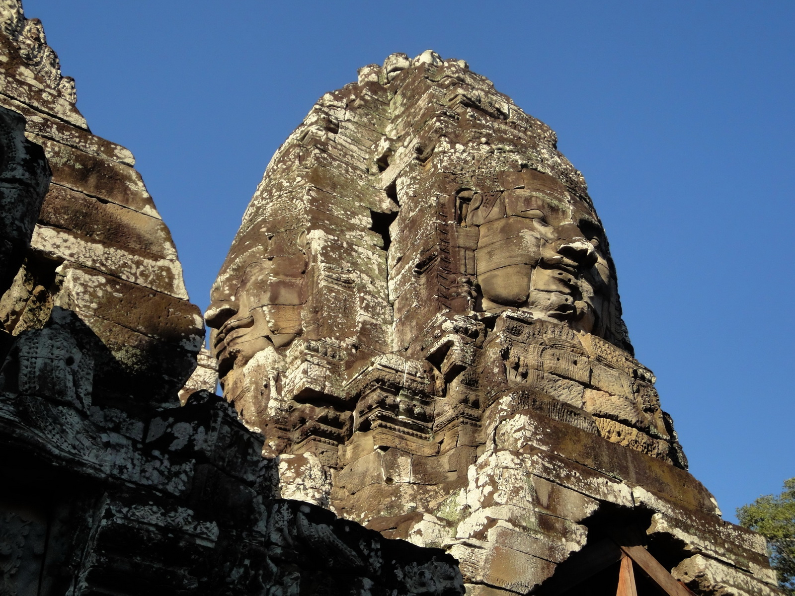 Bayon Temple NW inner gallery face towers Angkor Siem Reap 20