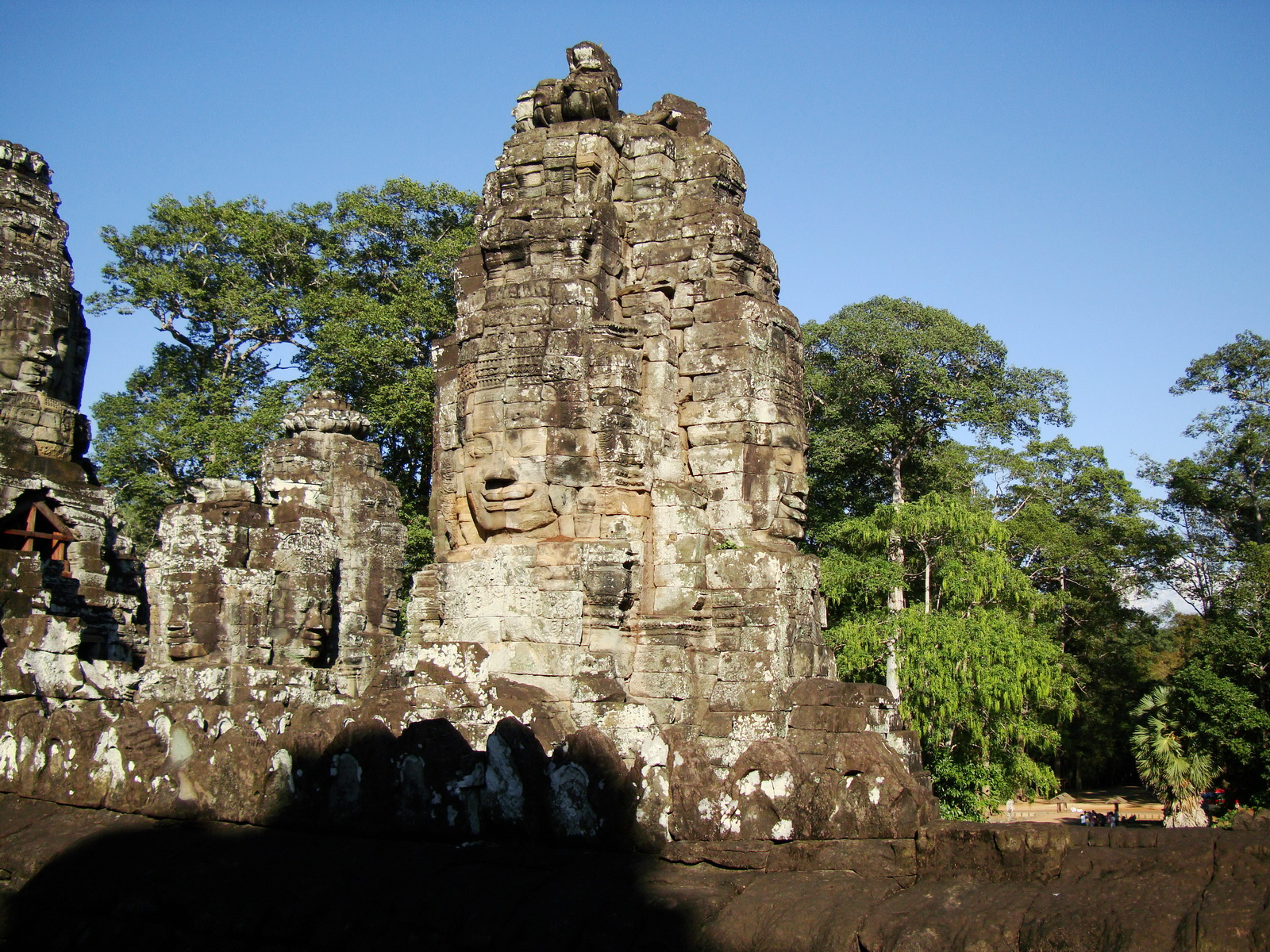 Bayon Temple NW inner gallery face towers Angkor Siem Reap 23