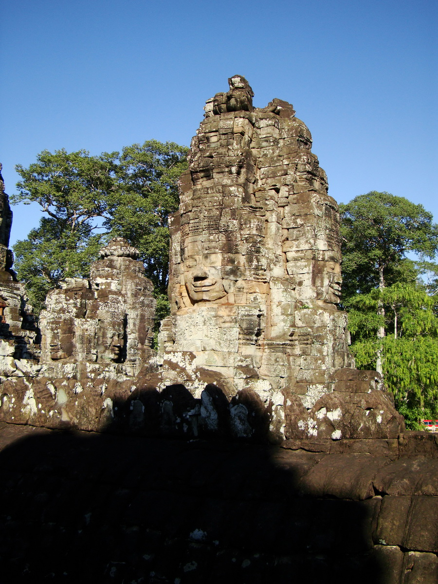 Bayon Temple NW inner gallery face towers Angkor Siem Reap 24