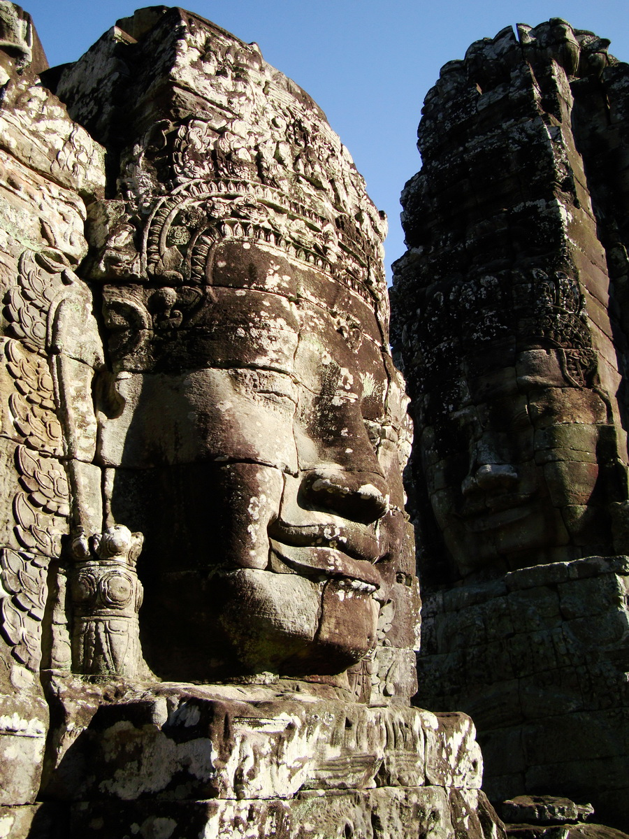 Bayon Temple NW inner gallery face towers Angkor Siem Reap 25