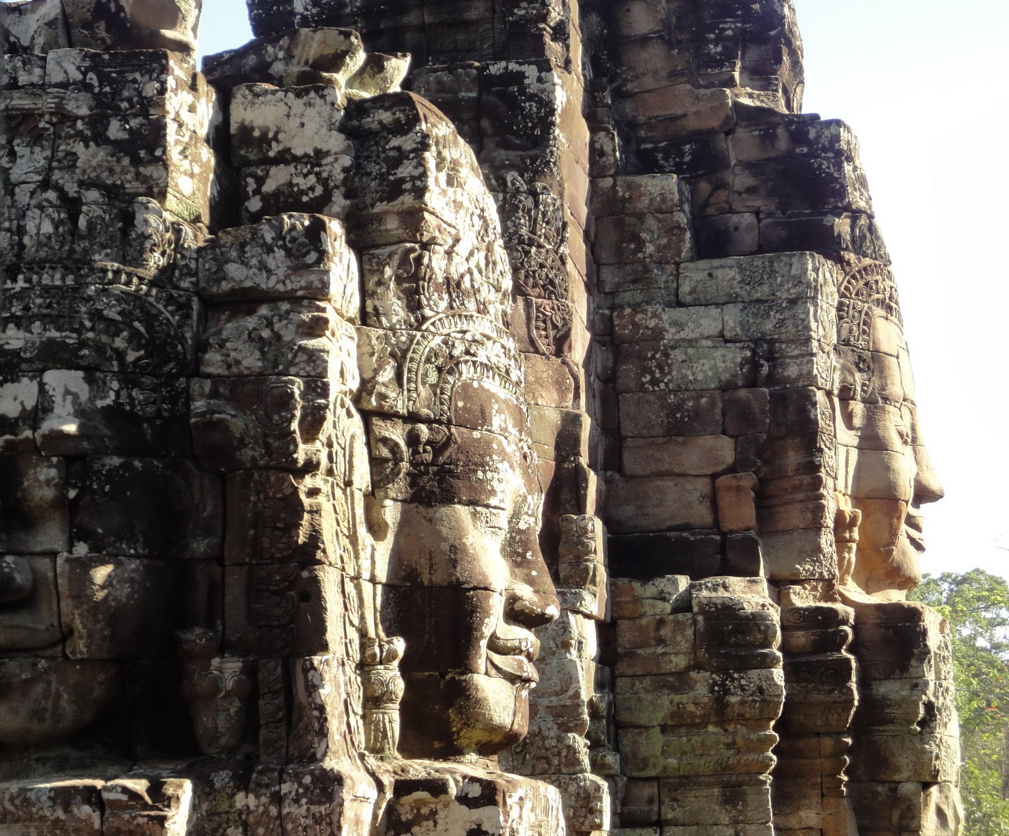 Bayon Temple NW inner gallery face towers Angkor Siem Reap 26