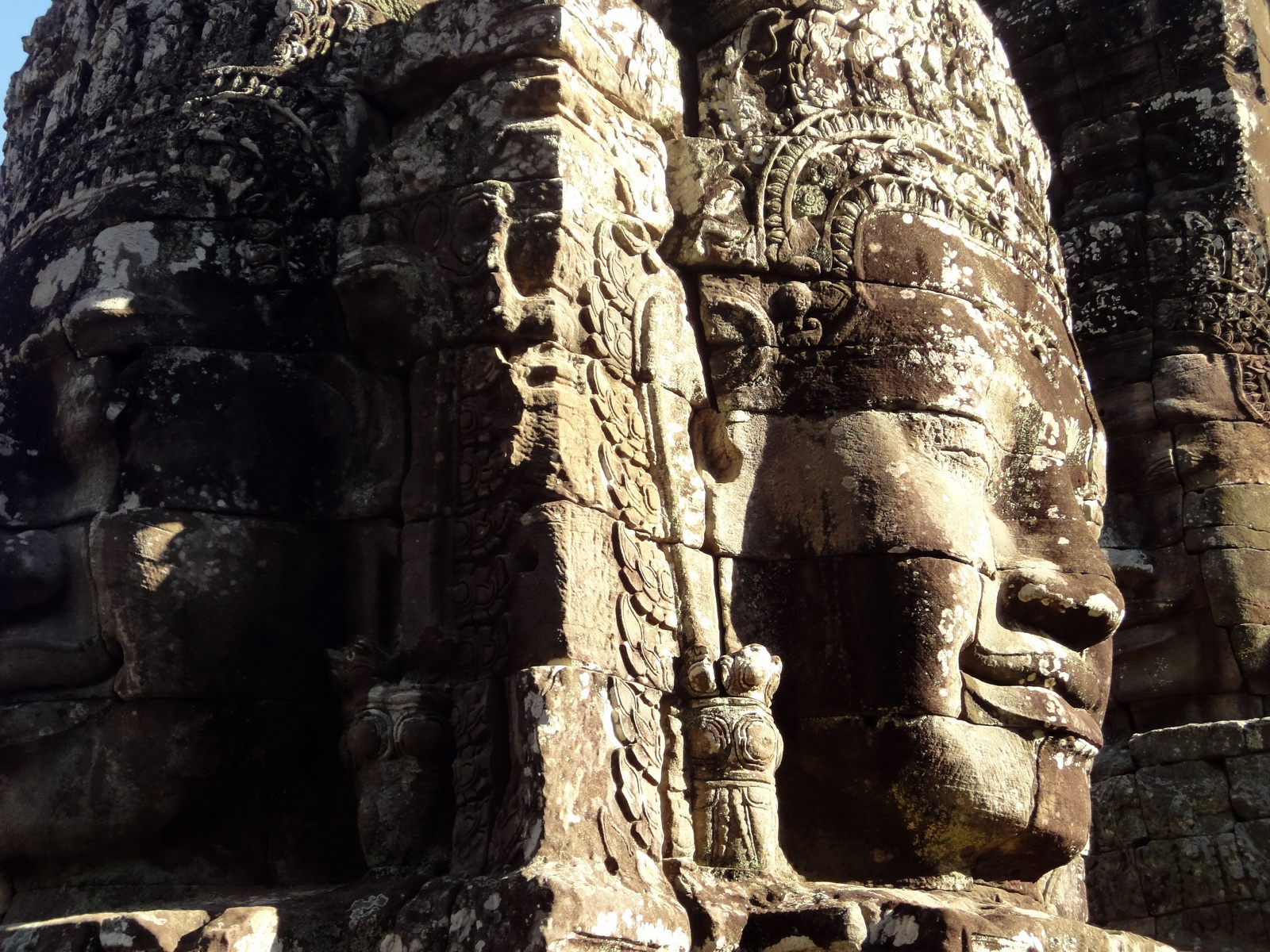 Bayon Temple NW inner gallery face towers Angkor Siem Reap 27