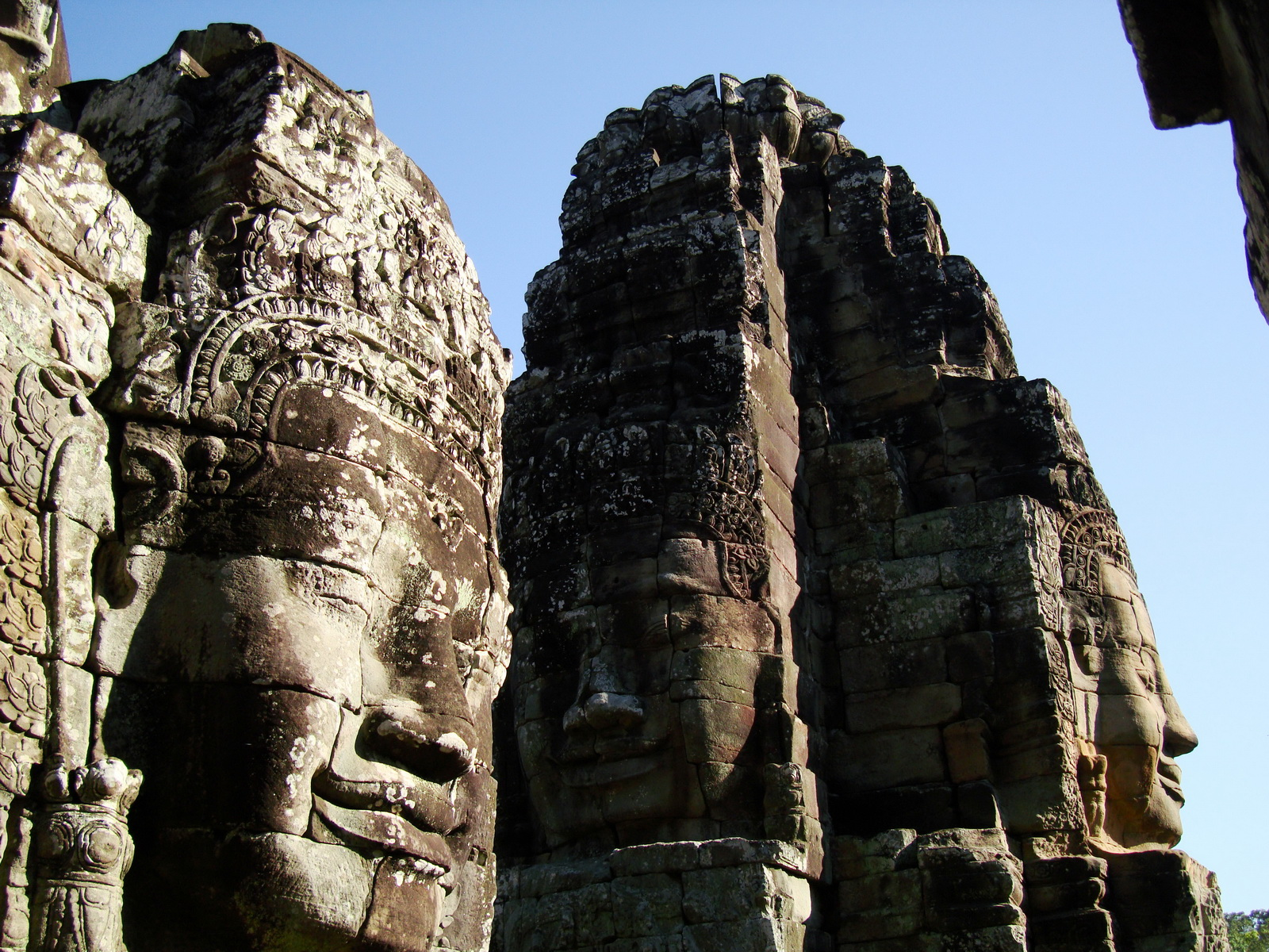 Bayon Temple NW inner gallery face towers Angkor Siem Reap 30
